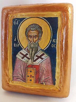 Saint Aberkios Abercius Abercio Agios Averkios Christianity Church Icon