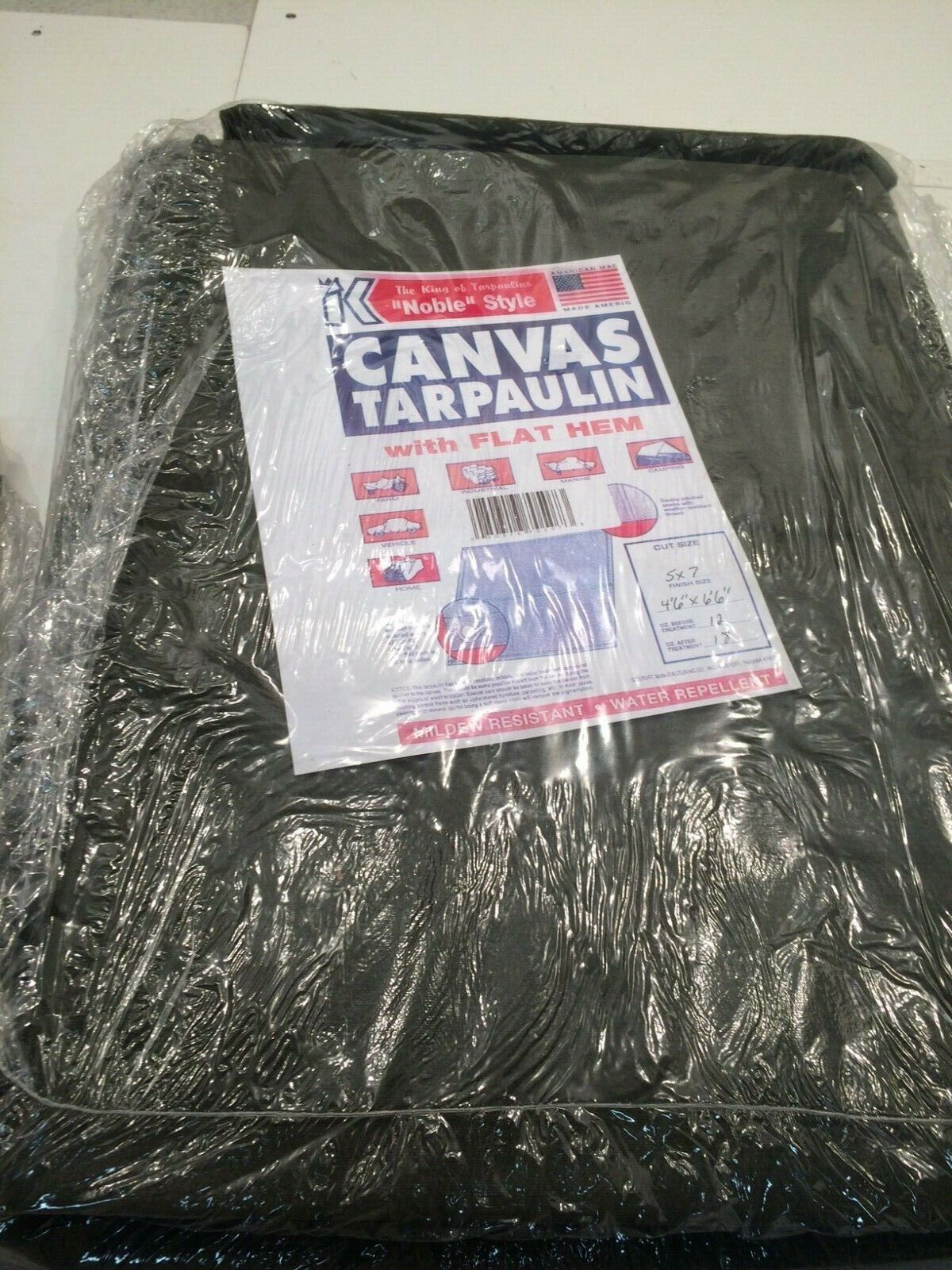 King Canvas Tarpaulin w/ Gromments 12oz/18oz Heavy Duty Canvas Tarp (5'x7') (B3)