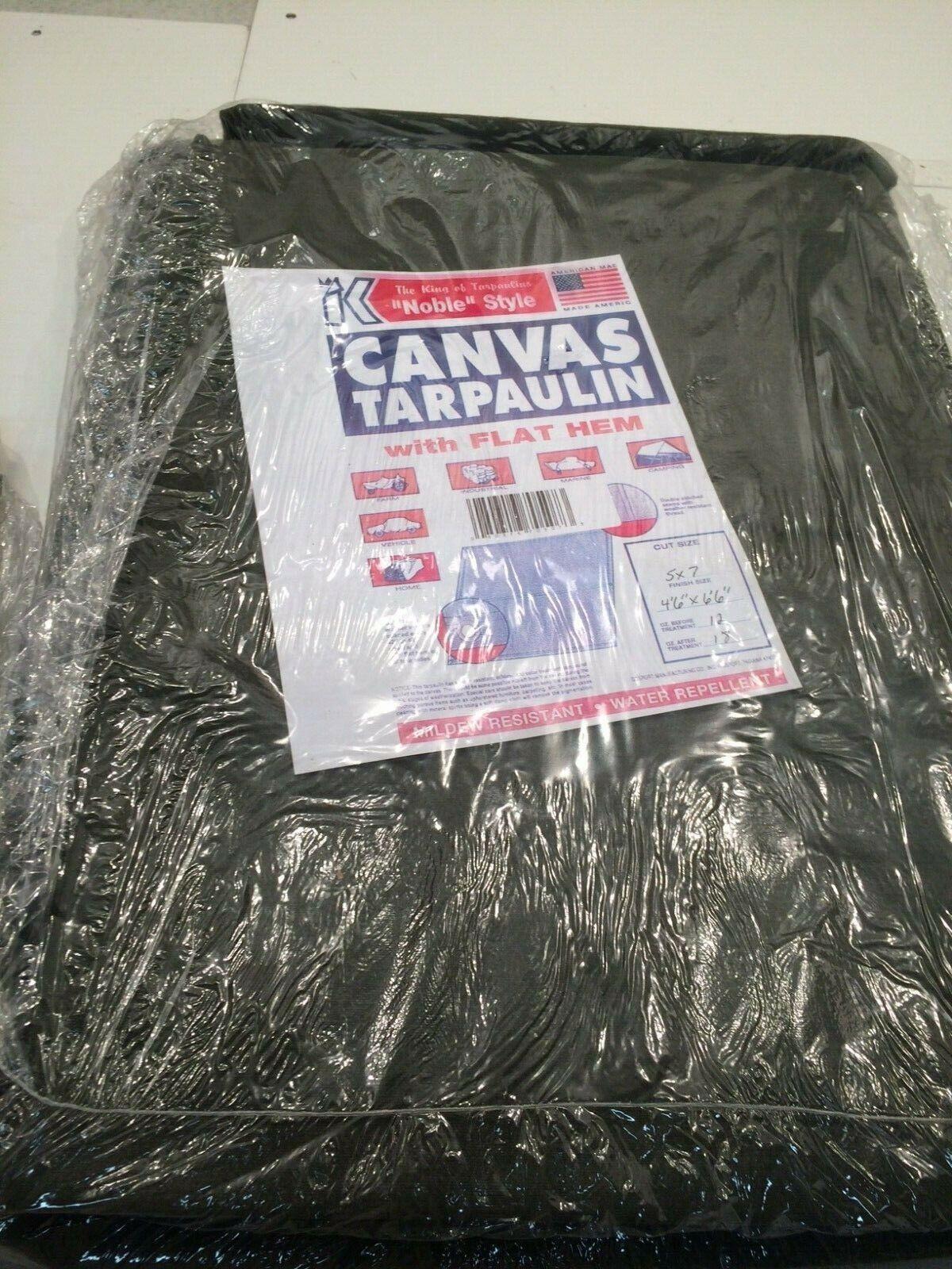 King Canvas Tarpaulin w/ Gromments 12oz/18oz Heavy Duty Canvas Tarp (5'x7') (B3)
