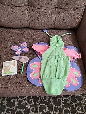 American Girl Bitty Baby Butterfly Costume Outfit Retired Set+ Bear Wings & net Net Baby Doll Set