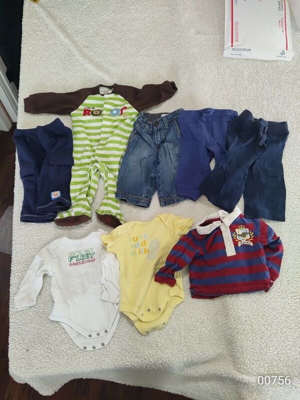 Lot  6-9 Months  Baby Boy Clothes Jeans  Pants Shirts Pajamas Etc