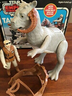 Vintage Star Wars ESB Tauntaun and Hoth Luke w/ original box, reigns and saddle