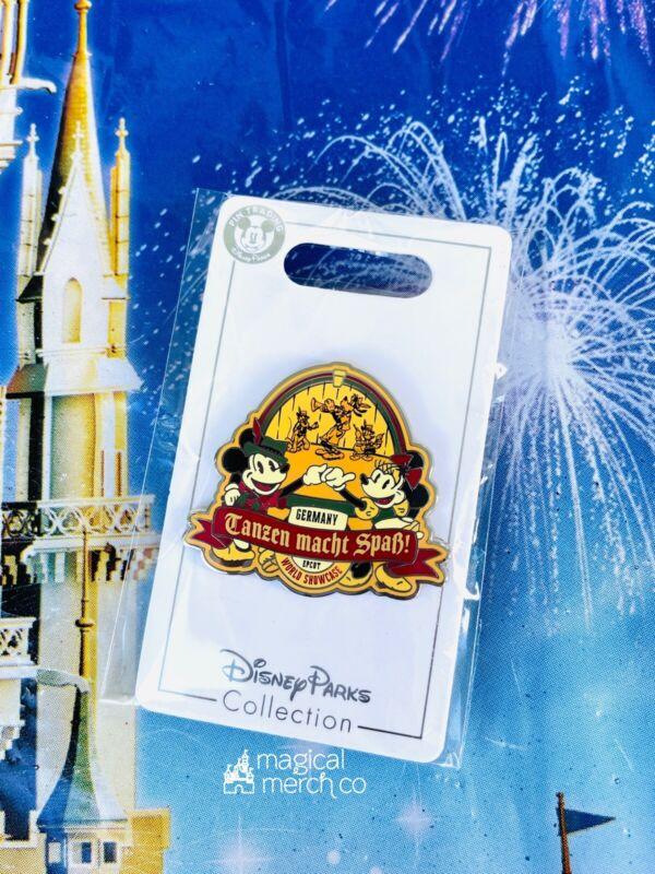 2021 Disney Parks Epcot World Showcase Pin Germany Mickey Minnie Pluto Goofy