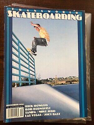 Transworld Skateboarding Magazine September 1996 Howard Burnquist Jeremy Klein