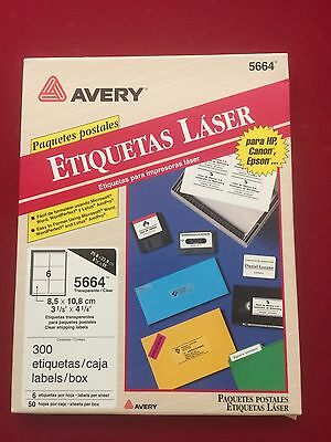 Avery 5664 Easy Peel Clear Shipping Labels 3-13 X 4 14 300 Labels