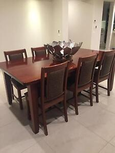 Jarrah dinning table and chairs Lockleys West Torrens Area Preview