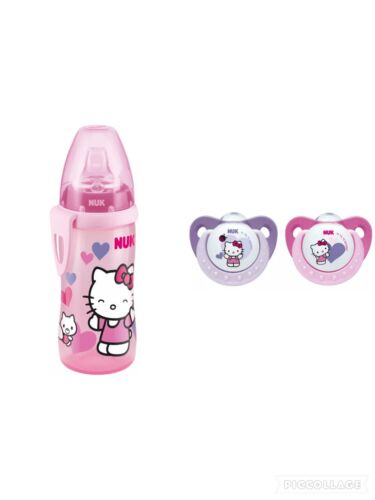 NUK Trendline Silikon-Schnuller Hello Kitty Gr.1(0-6 Mon)&Hello Kitty Active Cup