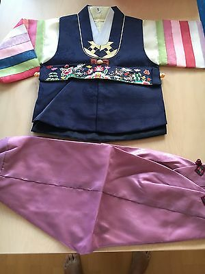 Koreanische Kleidung Junge ca. 5 Jahre Original Anzug Folklore Tracht