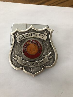 Vintage Security Guard Badge Indian Motorcycle Company