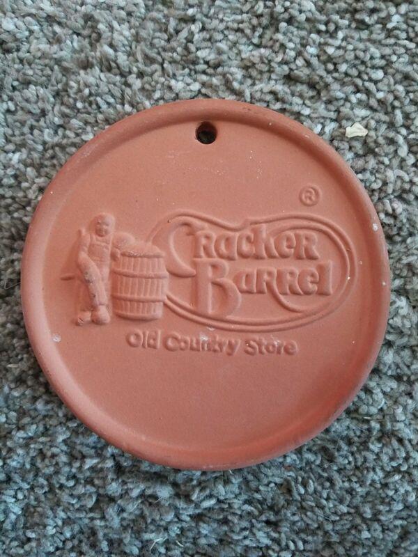 "Cracker Barrel Bread Warmer stone. 4"" round"
