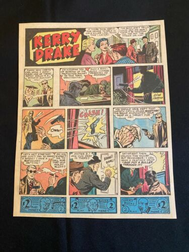 #60  KERRY DRAKE  by Alfred Andriola Sunday Comic Strip January 14, 1945