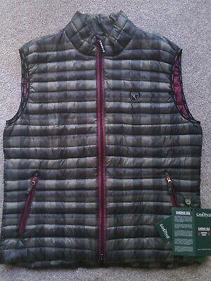 Chervo italian luxury performance golf vest puffer 2 way zip dark grey plaid 2x