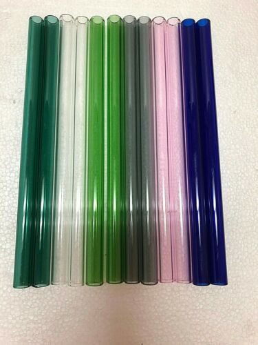 "Glass tube Pyrex 12 mm X 2 mm X 4""-6""-8"" -12""   Blowing tube  ID=8mm  Color"