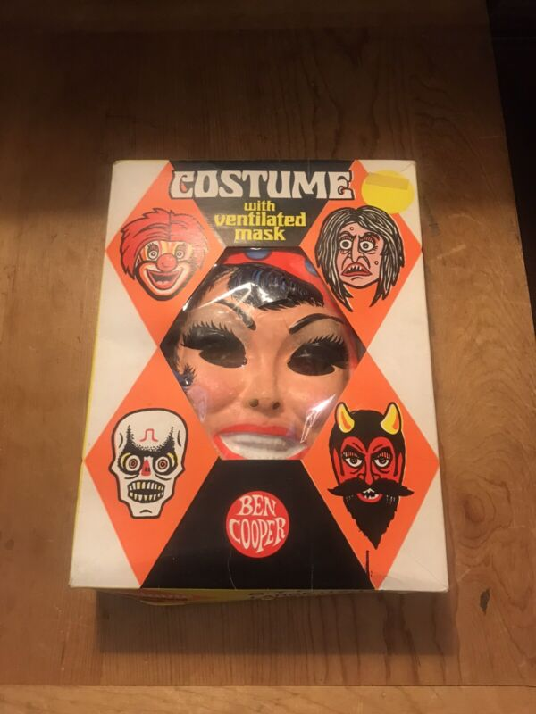 1973 VINTAGE BEN COOPER GYPSY HALLOWEEN COSTUME WITH MASK IN BOX USA