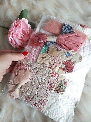 Vintage Fabric Antique Quilt Durham Slow Stitch Patchwork Craft Pack