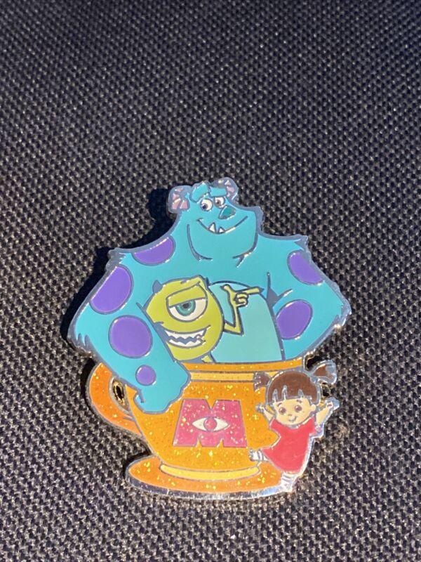 Hong Kong HKDL Disney Coffee cup Tin Series Monster Inc Sully Mike Boo pin Htf
