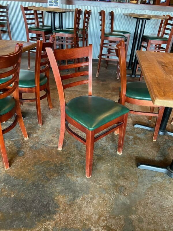 37 Used Restaurant Wooden Chairs $10 or best offer