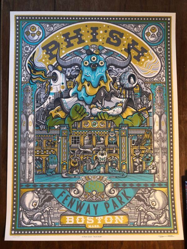 PHISH Fenway Park SUMMER TOUR 2019 Drew Millward Poster Metallic inks MINT!!