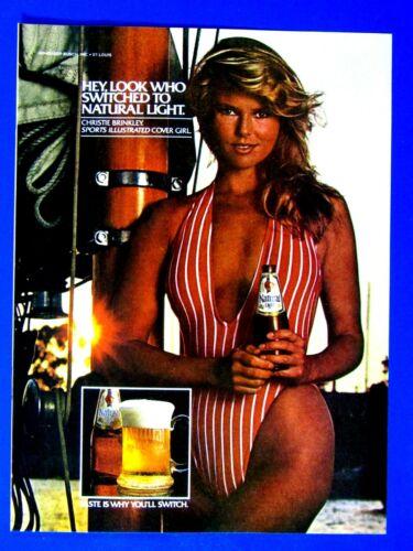 "Christie Brinkley Natural Light Original 1981 Print Ad 8.5 x 11"""