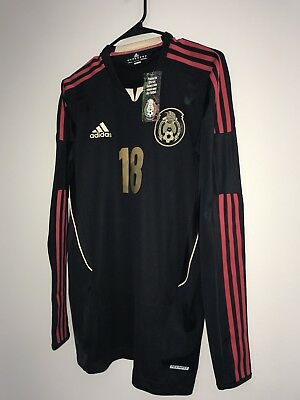 8291297d25b Adidas Mexico Player Issue Long Sleeve Techfit Away Soccer Jersey A  Guardado (8)