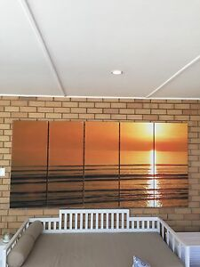 Printed canvas - beach sunset Coogee Cockburn Area Preview