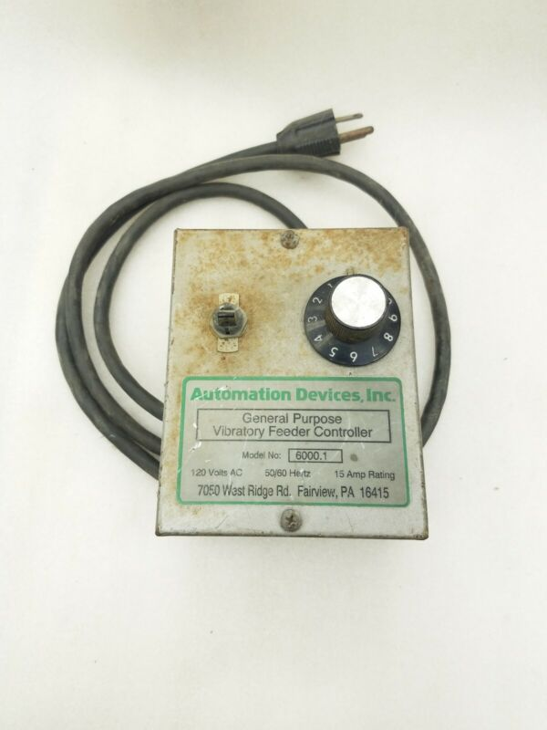 Eriez Magnetics Vibrating Feeder Control Box For Vibratory Conveyor Model 6000.1