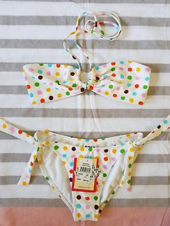 Roxy bikini 'Laguna Polka' size 8 - new with tags
