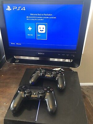 Sony Playstation PS4 Slim 1 TB Console - Black w/ 2 Controllers