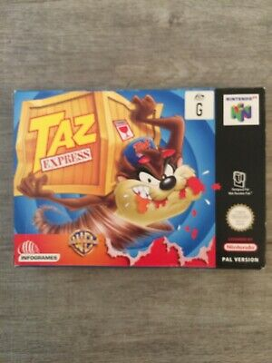 TAZ EXPRESS N64 - Very Rare Complete Boxed PAL Nintendo 64 Excellent Condition