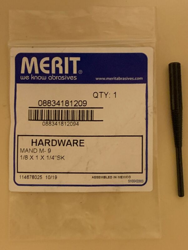 "Merit M-9 Cartridge and Spiral Roll Mandrel, 1/8"" Pilot Dia x 1"" Pilot Length"