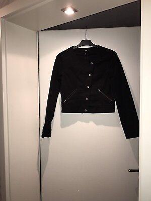 Neu Sehr Schöne Damen Biker Jacke Mantel Blazer In Größe 38 Schwarz H&m  Bolero gebraucht kaufen  Langenzenn