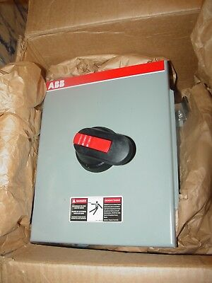 Abb New In Box Disconnect Switch Fc303-3pb6b 3-pole 600 Volt 30 Amp 20 Hp