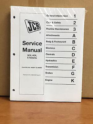 Jcb Service 3cx 4cx 214 214 215 217 Manual Repair Fast Shipping Priority