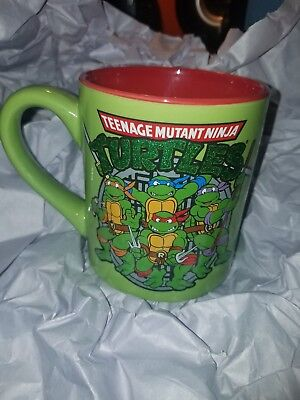 Mug Shot Background (Teenage Mutant Ninja Turtle Group Shot, Jumbo Ceramic Mug Green Background)