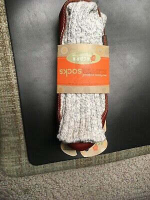 NWT Acorn Slipper Socks Grey Ragg Wool Size MEN 9-10...WOMEN 10.5-11.5