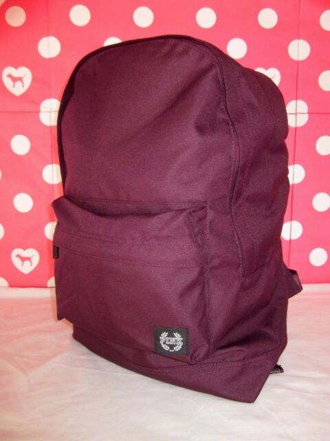 Victoria's Secret Pink Backpack Plain Orchid Burgundy Book Bag ...