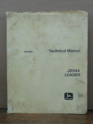 Original John Deere Jd 544 Jd544 Wheel Loader Technical Service Repair Manual