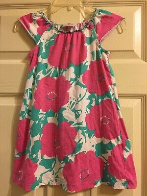 Hanna Andersson Pink and Blue Floral Dress Size 110 5