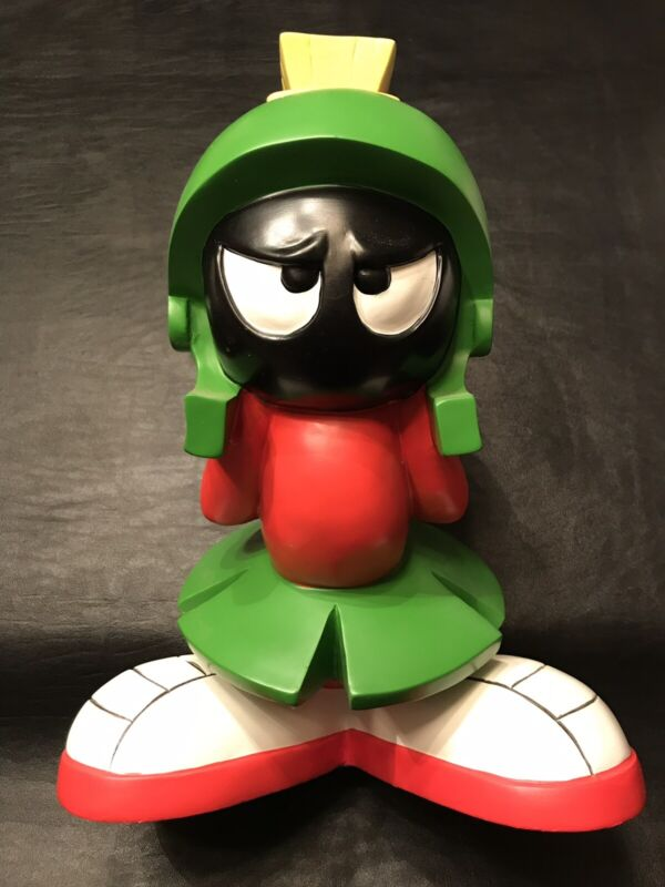 "1997 Warner Bros 12"" Marvin the Martian Studio Store Exclusive Resin/Poly Statue"
