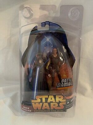 2005 Hasbro Star Wars Revenge Of The Sith Battle Damaged Anakin Skywalker #50