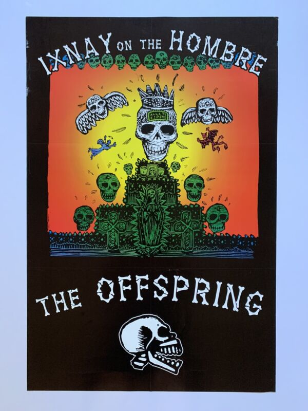 """Original 1996 Offspring Ixnay on The Hombre Two Sided Promo Punk Poster 24 X 36"""""""