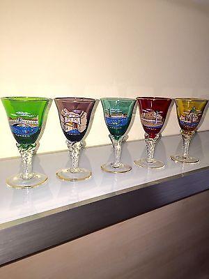 Vintage 5 Muranro Likörgläser Glas Venedig 10 cm hoch Restposten