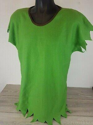 GREEN ELF SANTAS HELPER OUTFIT PETER PAN ADULT MEN WOMEN FANCY DRESS TOP - Peter Pan Top Kostüm
