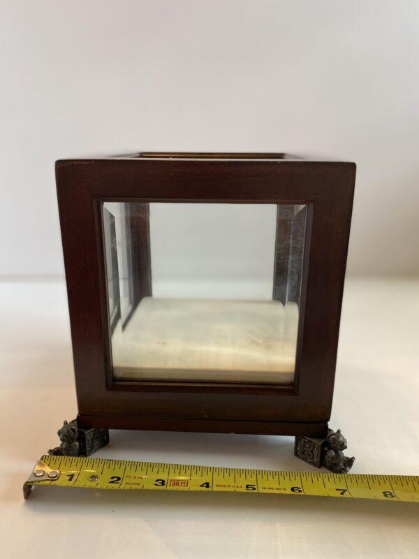 bombay company Baby Glass Pewter Display Box