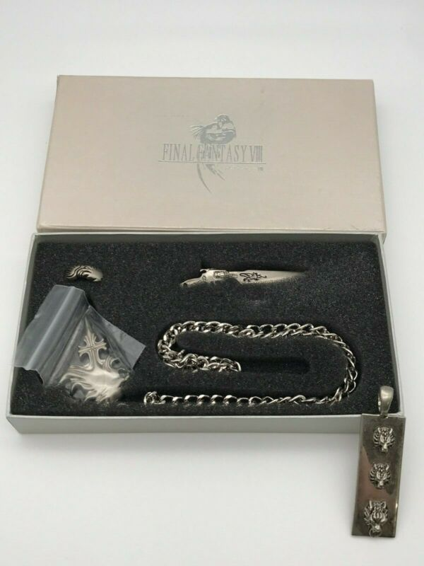 Final Fantasy VIII 5 Item Set: Necklace w/ 2 pendents, ring, keychain FF8