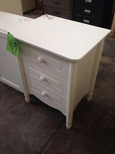 Lot: 148 White bedside 3 draw St Marys Penrith Area Preview