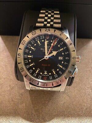 GLYCINE Airman 42mm GMT Automatic Black Dial Men's Watch Ref# GL0207
