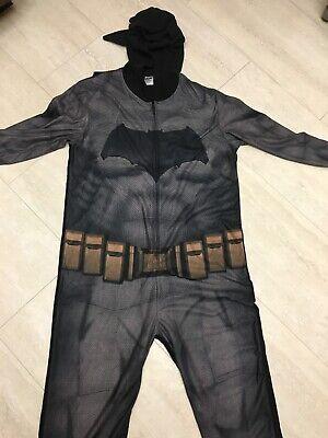 BATMAN ONE PIECE PAJAMAS/COSTUME W/ CAPE * ADULT SIZE MEDIUM * (Batman Pajamas Adults)