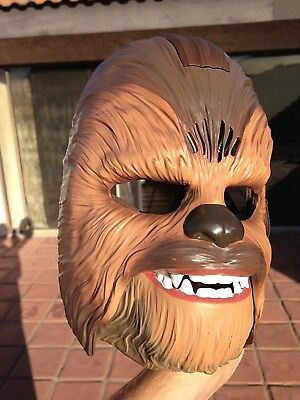 CHEWBACCA Star Wars talking Mask and brown jumpsuit COSTUME: size XXL adult man  - Xxl Chewbacca Costume