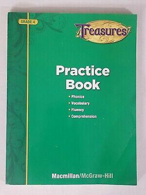 Macmillan/McGraw-Hill Treasures Grade 4 Reading Practice Workbook Home School
